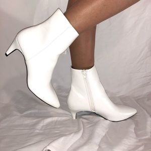 Faux GoGo White Booties